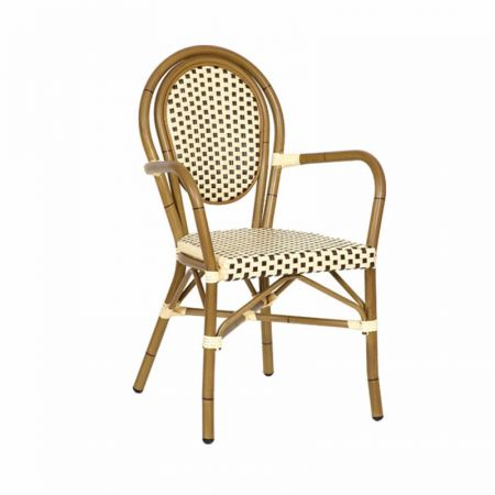 Riviera Woven Chair Brown & Cream