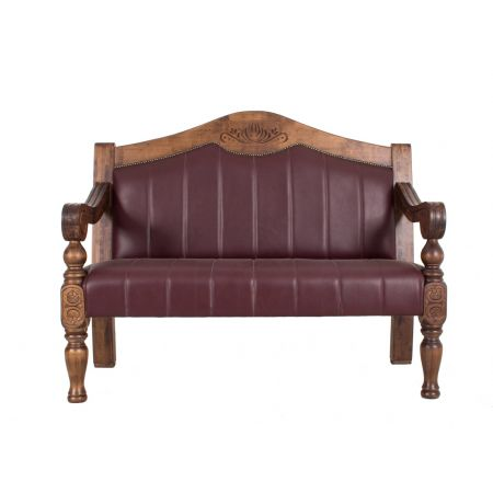 Carved Archback Dublin Bench