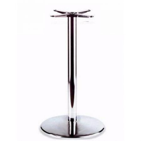 Large High Round Dome All Chrome Poseur