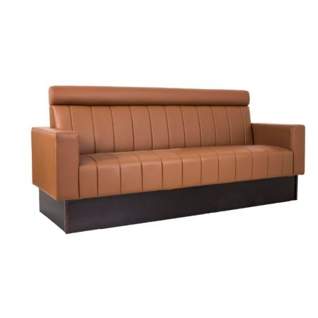 Ribbed Fixed Seating With Headrool & Upholstered Arms