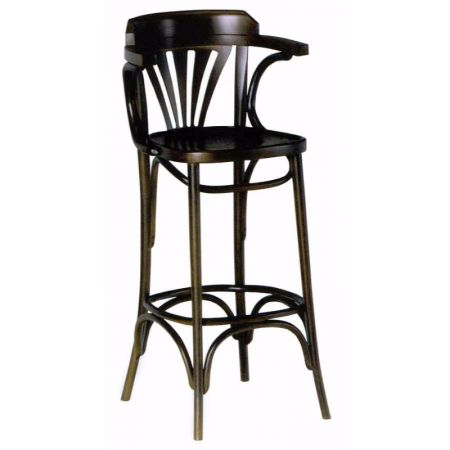 High Bentwood Fanback Stool