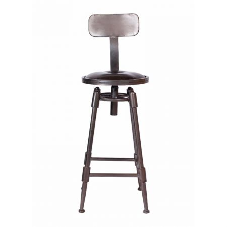 Highback Mill Swivel Stool