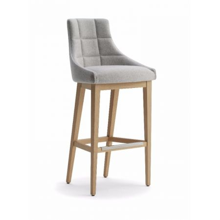 High Kylie Stool Square Stiched Back