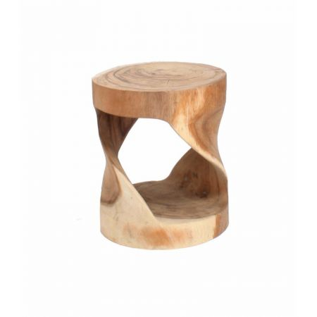 Low Round Trunk Stool