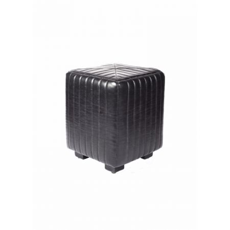 Low Deep Ribbed Cube Stool