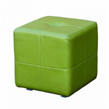 Low Cube Stool Stitched Effect With Button