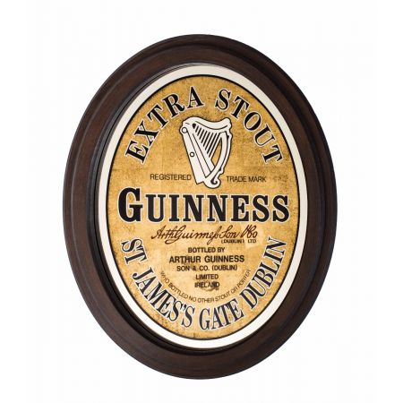 Guinness Oval Mirror
