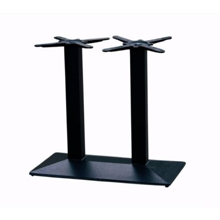 Double Pedestal Rectangular Pyramid Base All Black