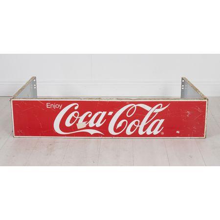 Coca-Cola advertising metal sign