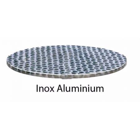 Round Inox Aluminium tops