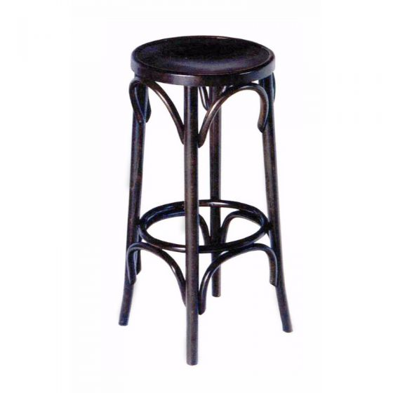 High Bentwood Stool No Back