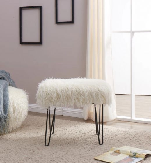Pleasing Faux Sheepskin Dressing Table Stool Grey Pabps2019 Chair Design Images Pabps2019Com