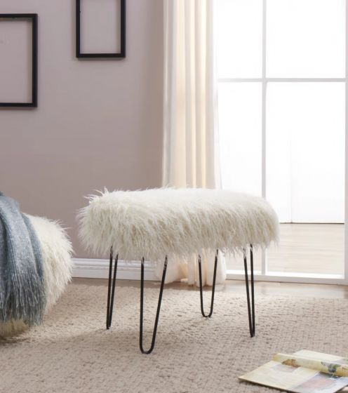 Swell Faux Sheepskin Dressing Table Stool Grey Pabps2019 Chair Design Images Pabps2019Com