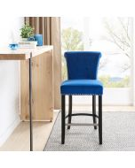 Knocker Back Breakfast Bar Stool - Royal Blue