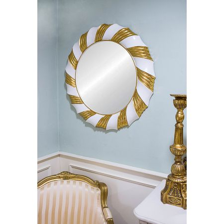 Champagne Twist Mirror - Gold White