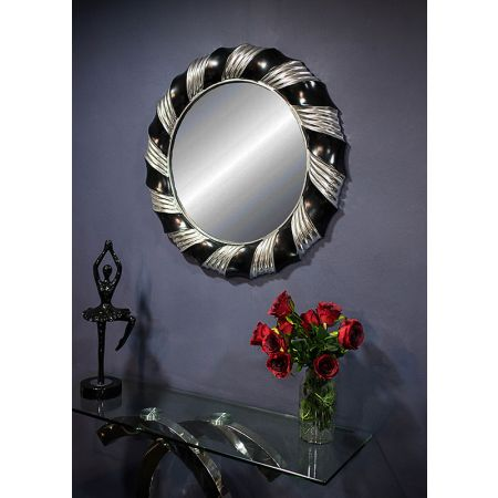 Champagne Twist Mirror- Silver Black