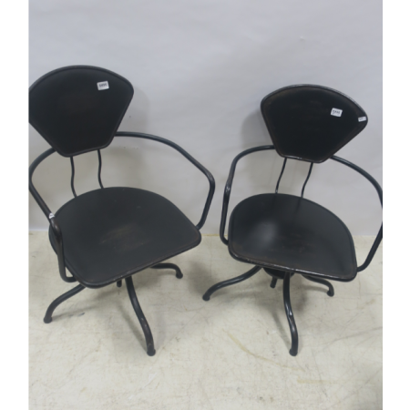 Tin swivel armchair
