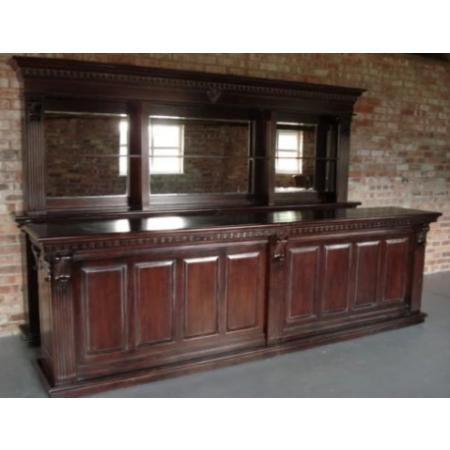 Mahogany bar and back bar 3,6m