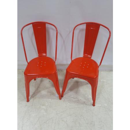 Red tolex chair