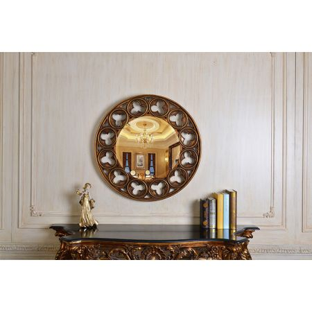 Celtic Round Mirror - Gold
