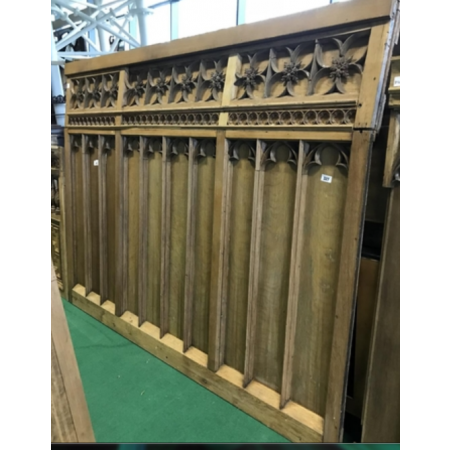 Smart oak Gothic panel with intricate carving