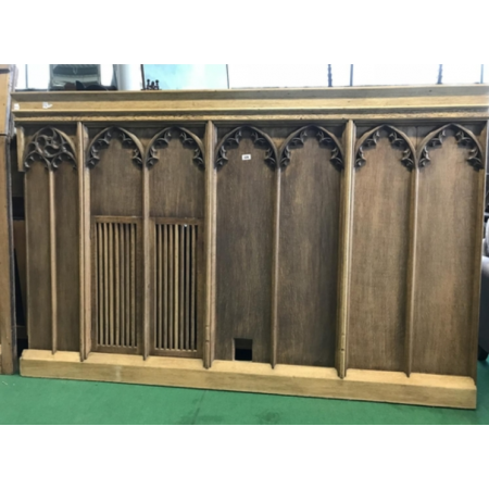 Oak Gothic panel with small internal doors