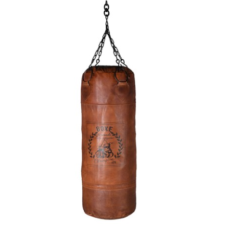 Vintage leather punch bag