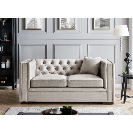 Montreal 2 Seater- Pebble Grey