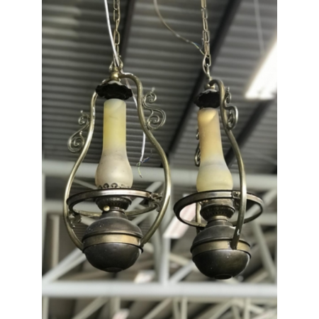 Pair of tilly lamps