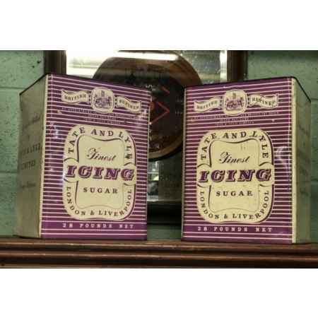Two 1950's Tate & Lyle Icing Sugar advertising tins.