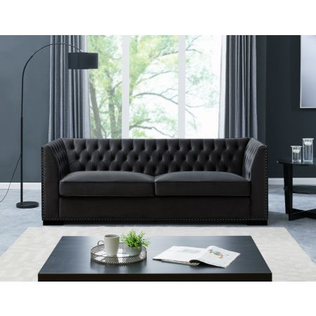 Chester 3 Seater Sofa Black