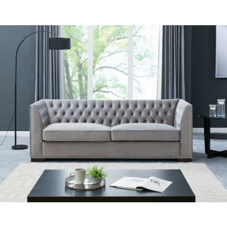 Chester 3 Seater Sofa Grey