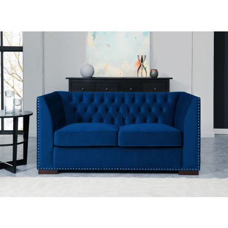 Chester 2 Seater Sofa Royal Blue