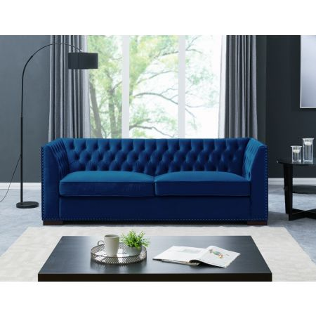 Chester 3 Seater Sofa Royal Blue