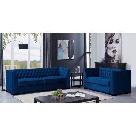 Chester 3+2 Suite Royal Blue