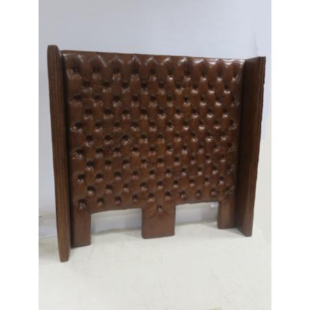 Tan leather headboard