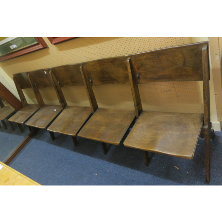 A FIVE SEAT CINEMA BENCH