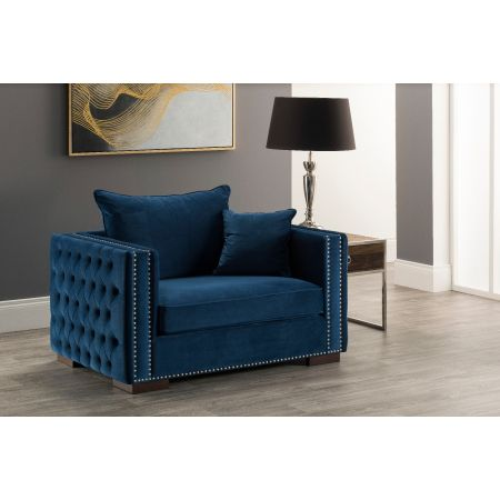 Moscow Snuggle Chair Royal Blue
