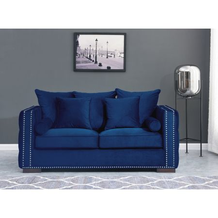 Moscow 2 Seater Sofa Royal Blue