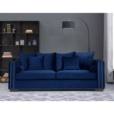 Moscow 3 Seater Sofa Royal Blue
