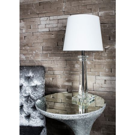 Crystal Pillar Table Lamp