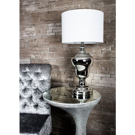 Antique Silver Glass Lamp