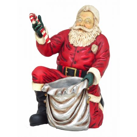 Santa Kneeling
