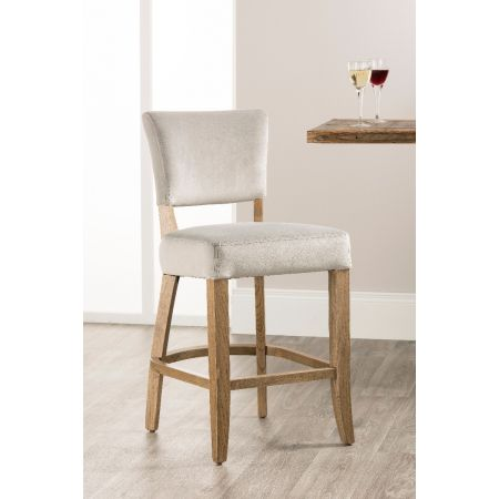 Bourton Bar Stool- Grey Velvet