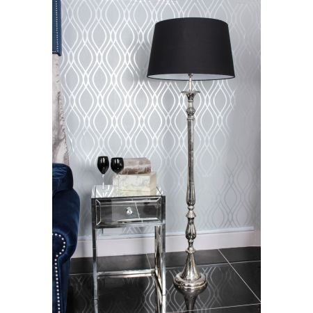 Nickel Nova Floor Lamp-Black