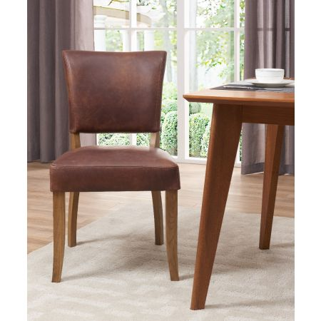 Bourton Chair Brown Leather