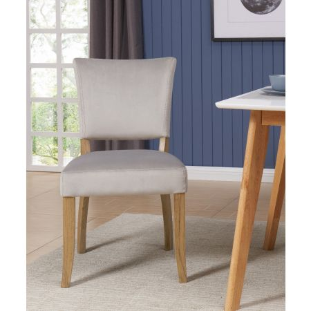 Bourton Chair Grey Velvet