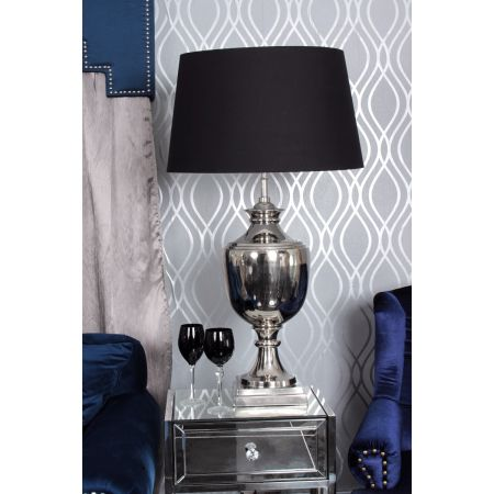 Nickel Parma Lamp -Black