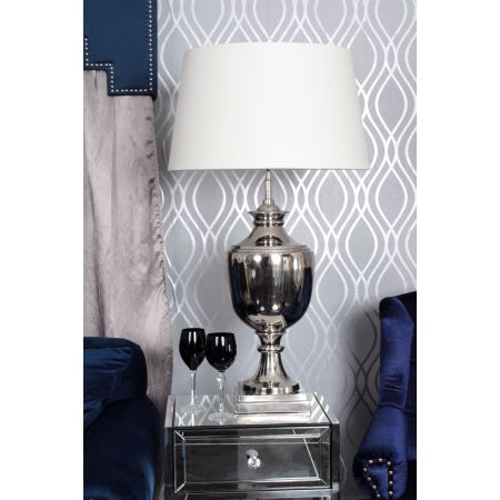 Nickel Parma Table Lamp Cream