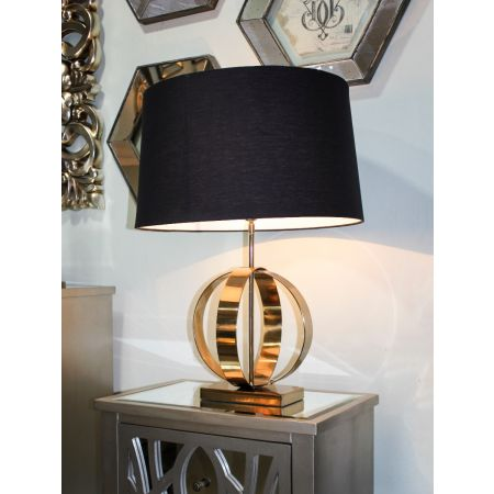Gold Luna Table Lamp - Black